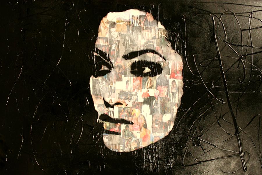 BLACK schilderij painting Michel Willemsen