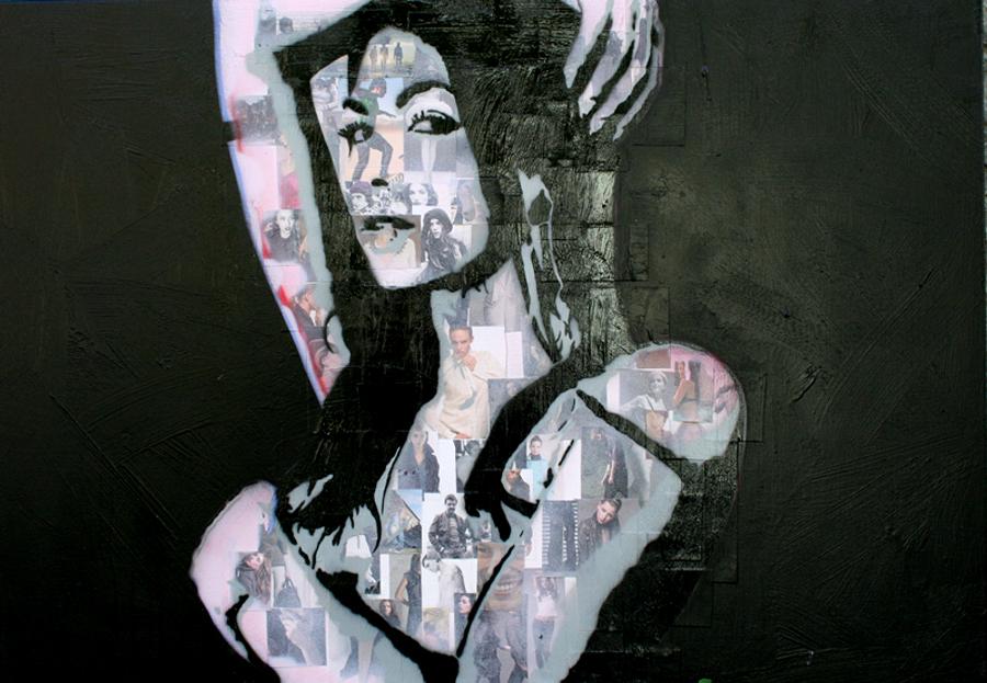 BLACK FASHION schilderij painting Michel Willemsen