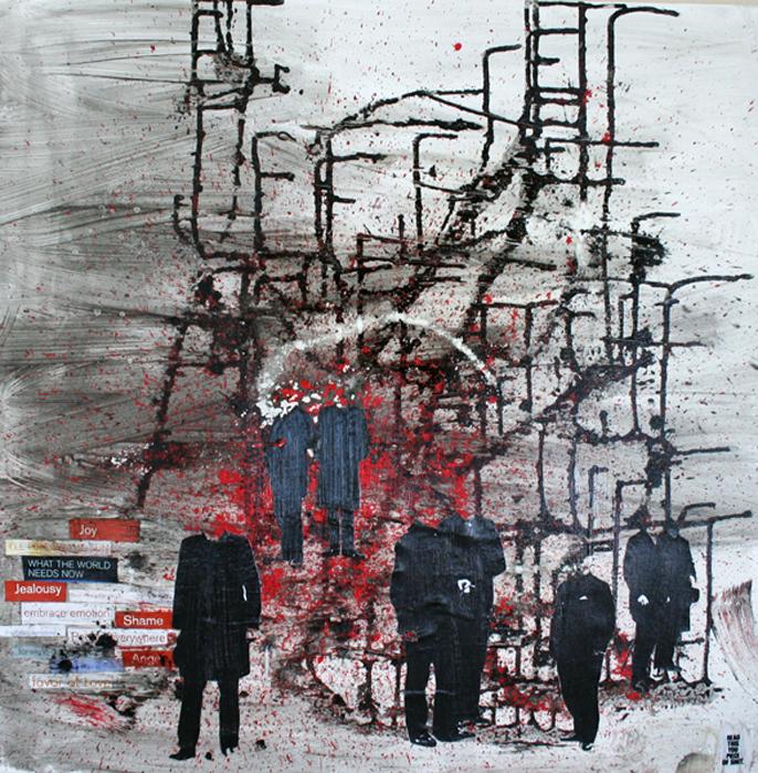READ THIS YOU PIECE OF BUSSINES SHIT schilderij painting Michel Willemsen
